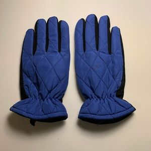 New Gloves Suede Leather Palm Blue/Black M/L